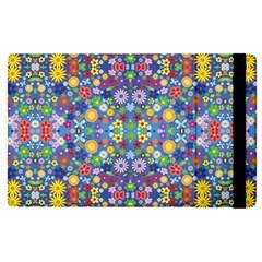 Colorful Flowers Apple Ipad Pro 12 9   Flip Case
