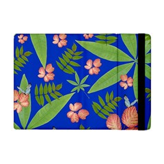Leaves On Blue Apple Ipad Mini Flip Case