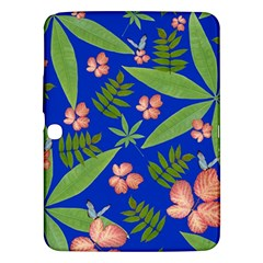 Leaves On Blue Samsung Galaxy Tab 3 (10 1 ) P5200 Hardshell Case