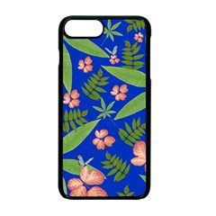 Leaves On Blue Apple Iphone 7 Plus Seamless Case (black) by LoolyElzayat
