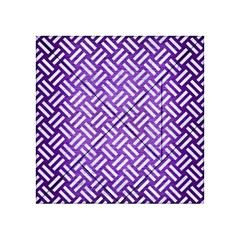 Woven2 White Marble & Purple Brushed Metal Acrylic Tangram Puzzle (4  X 4 )