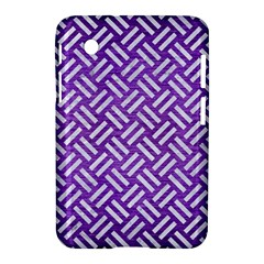 Woven2 White Marble & Purple Brushed Metal Samsung Galaxy Tab 2 (7 ) P3100 Hardshell Case