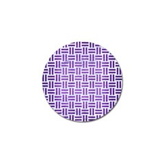Woven1 White Marble & Purple Brushed Metal (r) Golf Ball Marker (10 Pack)