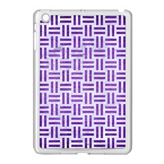 Woven1 White Marble & Purple Brushed Metal (r) Apple Ipad Mini Case (white)