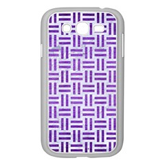 Woven1 White Marble & Purple Brushed Metal (r) Samsung Galaxy Grand Duos I9082 Case (white) by trendistuff