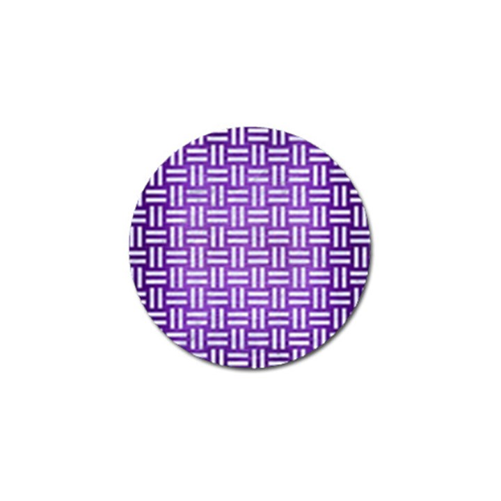 WOVEN1 WHITE MARBLE & PURPLE BRUSHED METAL Golf Ball Marker