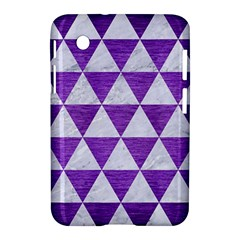 Triangle3 White Marble & Purple Brushed Metal Samsung Galaxy Tab 2 (7 ) P3100 Hardshell Case