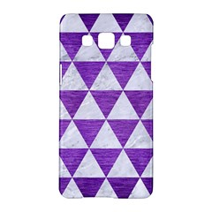 Triangle3 White Marble & Purple Brushed Metal Samsung Galaxy A5 Hardshell Case