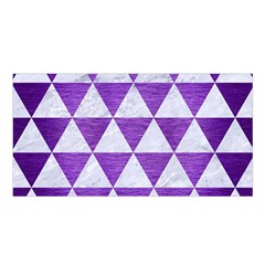 Triangle3 White Marble & Purple Brushed Metal Satin Shawl