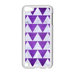 Triangle2 White Marble & Purple Brushed Metal Apple Ipod Touch 5 Case (white) by trendistuff