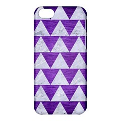 Triangle2 White Marble & Purple Brushed Metal Apple Iphone 5c Hardshell Case