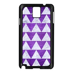 Triangle2 White Marble & Purple Brushed Metal Samsung Galaxy Note 3 N9005 Case (black)