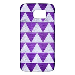 Triangle2 White Marble & Purple Brushed Metal Galaxy S6