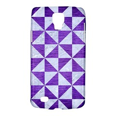 Triangle1 White Marble & Purple Brushed Metal Galaxy S4 Active