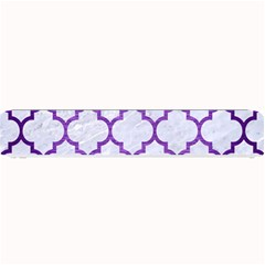 Tile1 White Marble & Purple Brushed Metal (r) Small Bar Mats