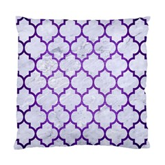 Tile1 White Marble & Purple Brushed Metal (r) Standard Cushion Case (two Sides) by trendistuff