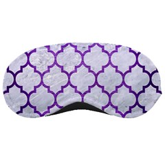 Tile1 White Marble & Purple Brushed Metal (r) Sleeping Masks