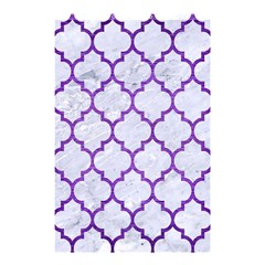 Tile1 White Marble & Purple Brushed Metal (r) Shower Curtain 48  X 72  (small)