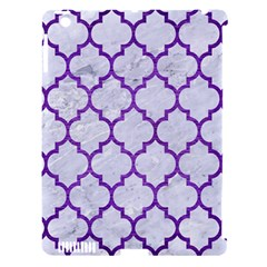 Tile1 White Marble & Purple Brushed Metal (r) Apple Ipad 3/4 Hardshell Case (compatible With Smart Cover)