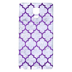 Tile1 White Marble & Purple Brushed Metal (r) Galaxy Note 4 Back Case by trendistuff