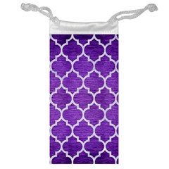 Tile1 White Marble & Purple Brushed Metal Jewelry Bags