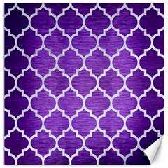 Tile1 White Marble & Purple Brushed Metal Canvas 16  X 16