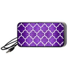 Tile1 White Marble & Purple Brushed Metal Portable Speaker