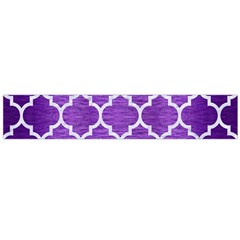 Tile1 White Marble & Purple Brushed Metal Large Flano Scarf  by trendistuff