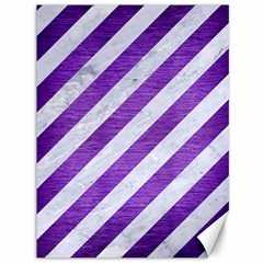 Stripes3 White Marble & Purple Brushed Metal (r) Canvas 36  X 48