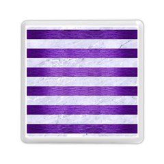 Stripes2white Marble & Purple Brushed Metal Memory Card Reader (square)