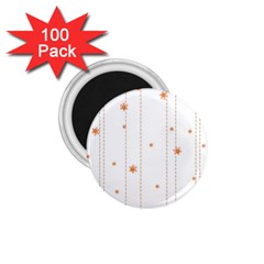 Background Salmon Pink White Motive 1 75  Magnets (100 Pack)