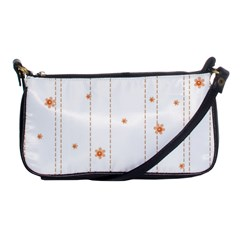 Background Salmon Pink White Motive Shoulder Clutch Bags