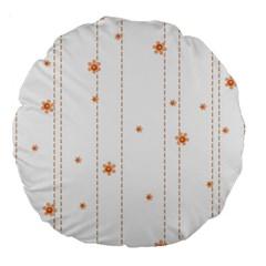 Background Salmon Pink White Motive Large 18  Premium Round Cushions by Sapixe