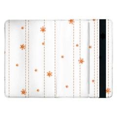 Background Salmon Pink White Motive Samsung Galaxy Tab Pro 12 2  Flip Case by Sapixe