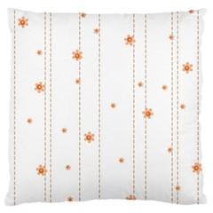 Background Salmon Pink White Motive Large Flano Cushion Case (one Side)