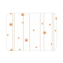 Background Salmon Pink White Motive Double Sided Flano Blanket (mini)  by Sapixe