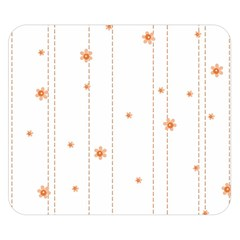 Background Salmon Pink White Motive Double Sided Flano Blanket (small)  by Sapixe