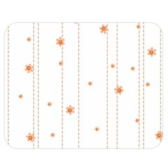 Background Salmon Pink White Motive Double Sided Flano Blanket (medium)  by Sapixe