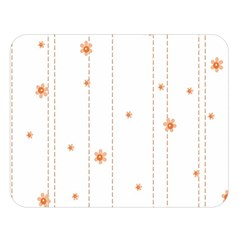 Background Salmon Pink White Motive Double Sided Flano Blanket (large)  by Sapixe