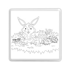 Coloring Picture Easter Easter Bunny Memory Card Reader (square)