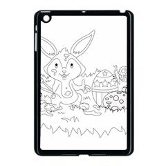 Coloring Picture Easter Easter Bunny Apple Ipad Mini Case (black) by Sapixe