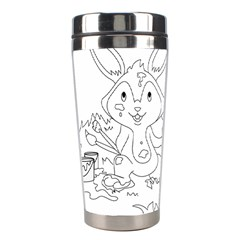 Coloring Picture Easter Easter Bunny Stainless Steel Travel Tumblers by Sapixe