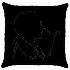Boyfriends In Love Motivation Throw Pillow Case (black) by Sapixe