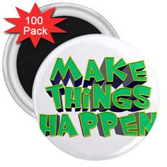 Act Do Text Make Tackle Implement 3  Magnets (100 Pack)