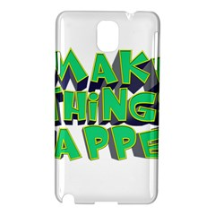 Act Do Text Make Tackle Implement Samsung Galaxy Note 3 N9005 Hardshell Case