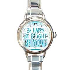 Motivation Positive Inspirational Round Italian Charm Watch
