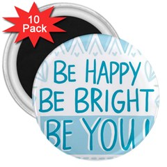 Motivation Positive Inspirational 3  Magnets (10 Pack)