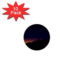 Nature Night Colorful Landscape 1  Mini Buttons (10 Pack)