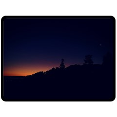 Nature Night Colorful Landscape Double Sided Fleece Blanket (large)