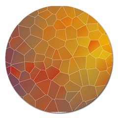 Colors Modern Contemporary Graphic Magnet 5  (round)